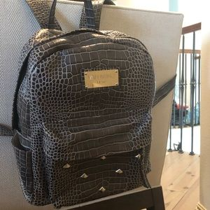 Mario Valentino Diego Croc Embossed Backpack